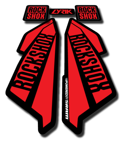 ROCKSHOX LYRIC sticker 2017 Red