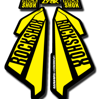 ROCKSHOX LYRIC sticker 2017 Yellow