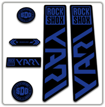 ROCKSHOX YARI 2020-21 Fork Stickers Blue