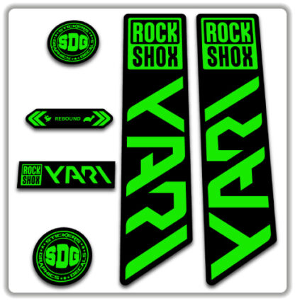 ROCKSHOX YARI 2020-21 Fork Stickers Fluorescent Green