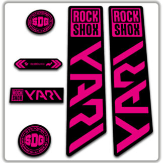 ROCKSHOX YARI 2020-21 Fork Stickers Fluorescent Pink