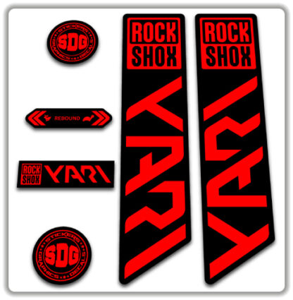 ROCKSHOX YARI 2020-21 Fork Stickers Fluorescent Red