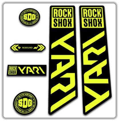 ROCKSHOX YARI 2020-21 Fork Stickers Fluorescent Yellow