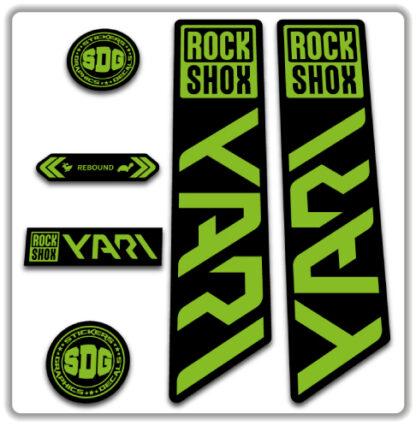 ROCKSHOX YARI 2020-21 Fork Stickers Green