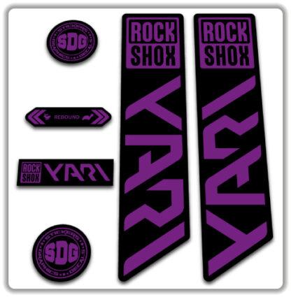 ROCKSHOX YARI 2020-21 Fork Stickers Hope Purple