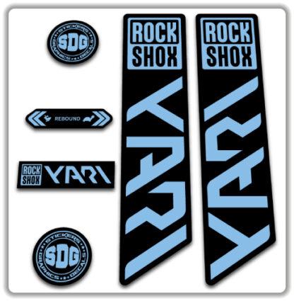 ROCKSHOX YARI 2020-21 Fork Stickers Light Blue