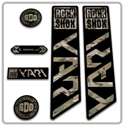 ROCKSHOX YARI 2020-21 Fork Stickers MultiCam