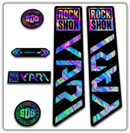 ROCKSHOX YARI 2020-21 Fork Stickers Oil Slick