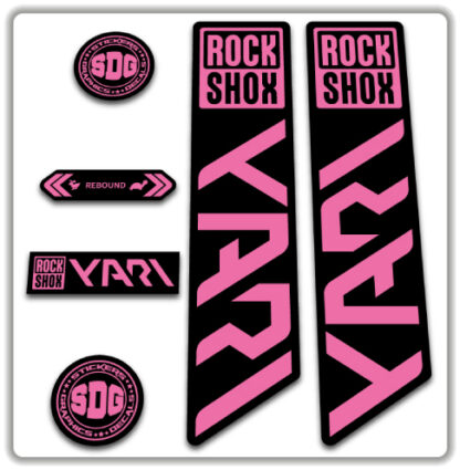 ROCKSHOX YARI 2020-21 Fork Stickers Pink