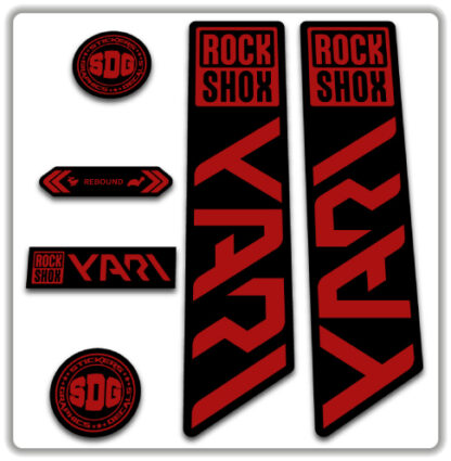 ROCKSHOX YARI 2020-21 Fork Stickers Red
