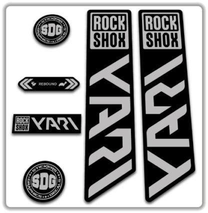 ROCKSHOX YARI 2020-21 Fork Stickers Sliver Grey
