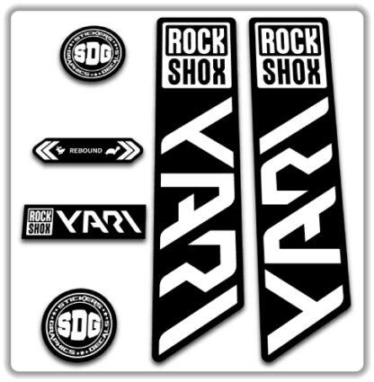 ROCKSHOX YARI 2020-21 Fork Stickers White