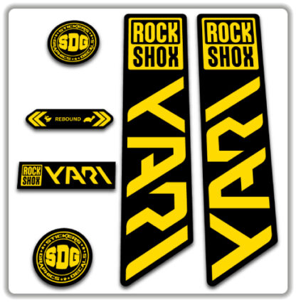 ROCKSHOX YARI 2020-21 Fork Stickers Yellow