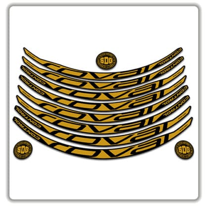 ROVAL CONTROL CARBON 29er 2017 2018 rim stickers gold