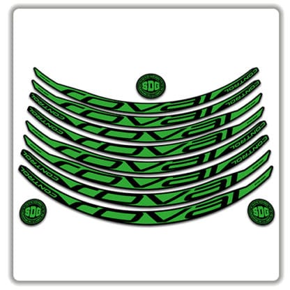 ROVAL CONTROL CARBON 29er 2017 2018 rim stickers green