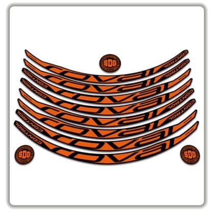 ROVAL CONTROL CARBON 29er 2017 2018 rim stickers orange