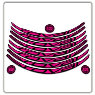 ROVAL CONTROL CARBON 29er 2017 2018 rim stickers pink