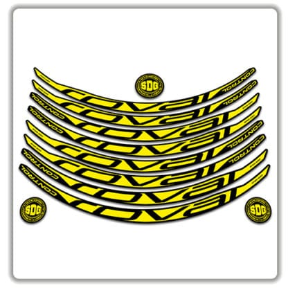 ROVAL CONTROL CARBON 29er 2017 2018 rim stickers yellow