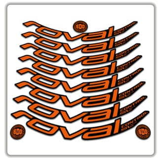 ROVAL CONTROL SL 29er 2019 rim stickers orange