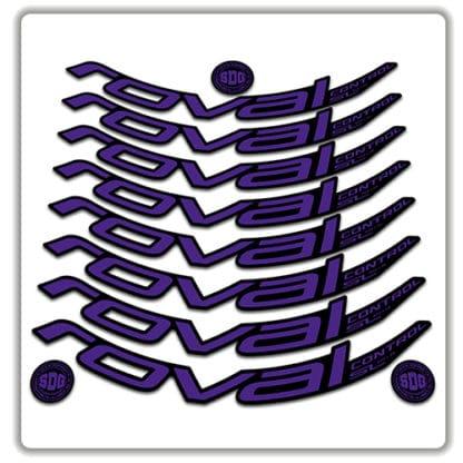 ROVAL CONTROL SL 29er 2019 rim stickers purple