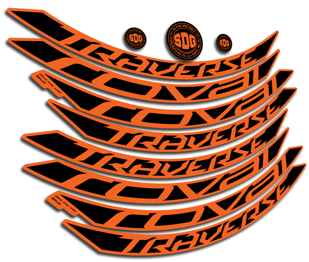 Roval Traverse 2015 2017 Alloy 650b Rim Stickers 29mm