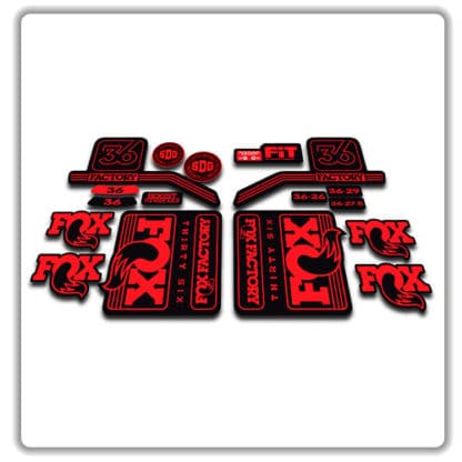 Red Fox 36 Fork Stickers 2016 2017