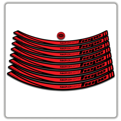 Red Hope Tech DH 27.5 Rim Stickers