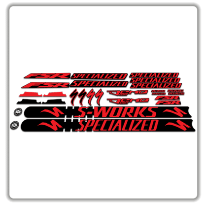 Red Specialized Demo 8 Frame Set Stickers