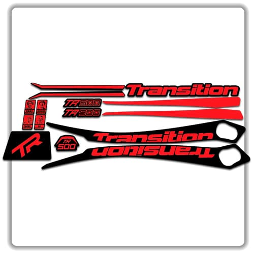 Red Transition TR500 Frame Set Stickers