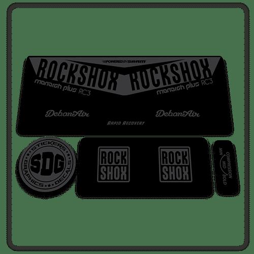 Vinyl Chrome Cut Overlaminate Rockshox Monarch Rt Rear