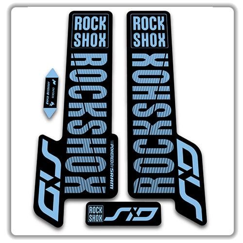 Rock Shox SID 2015 Mountain Bike Cycling Decal Kit Sticker Adhesive Kit Yellow