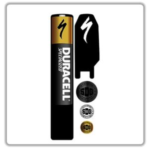 specialized levo kenevo battery pack stickers duracell gold