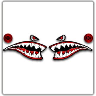 Shark Face Mountain Bike Sticker