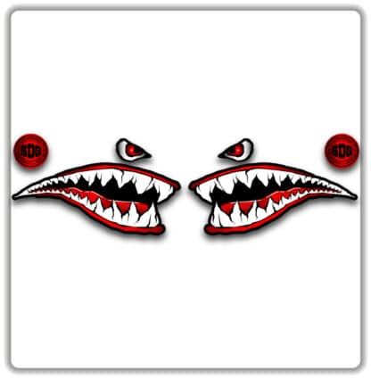Shark Face Mountain Bike Sticker