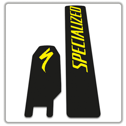 Specialized Kenevo 2018 battery stickers yellow