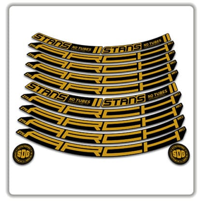 Stans No Tubes 27.5 Arch ZTR MK3 Rim Stickers gold