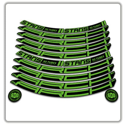 Stans No Tubes 27.5 Arch ZTR MK3 Rim Stickers green