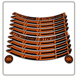 Stans No Tubes 29er Arch ZTR MK3 Rim Stickers orange