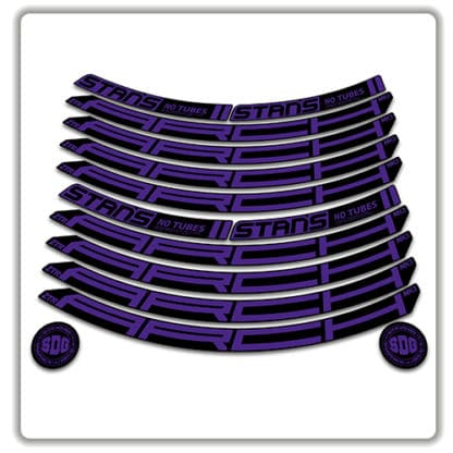 Stans No Tubes 27.5 Arch ZTR MK3 Rim Stickers purple