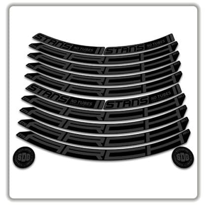 Stans No Tubes 27.5 Arch ZTR MK3 Rim Stickers stealth