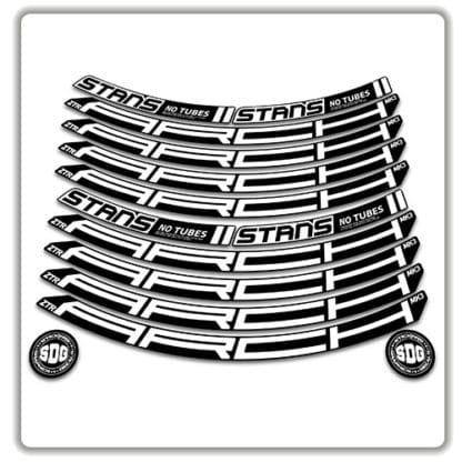 Stans No Tubes 27.5 Arch ZTR MK3 Rim Stickers white