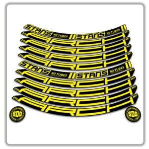 Stans No Tubes 27.5 Arch ZTR MK3 Rim Stickers yellow