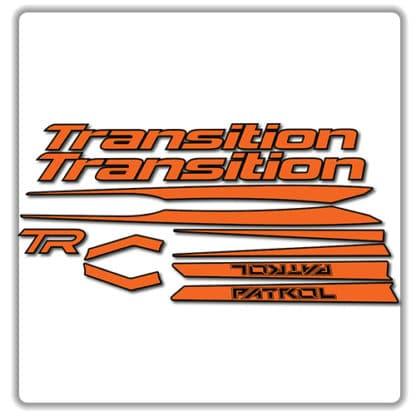 Transition Patrol Alloy Frame Set Stickers Orange