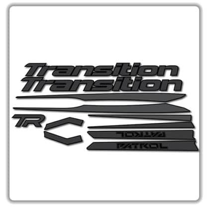 Transition Patrol Alloy Frame Set Stickers Stealth