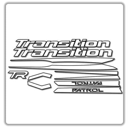 Transition Patrol Alloy Frame Set Stickers White