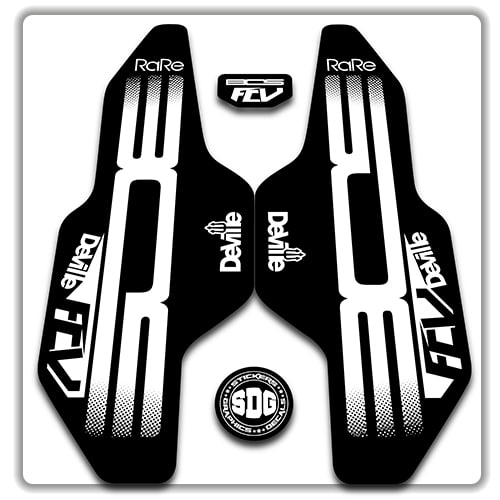 BOS Deville Forks Suspension Factory Decals Cycling Stickers Adhesive Gray