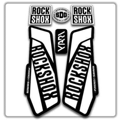 White Rockshox Yari Fork Stickers 2017