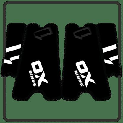 White SRAM X01 crank arm stickers