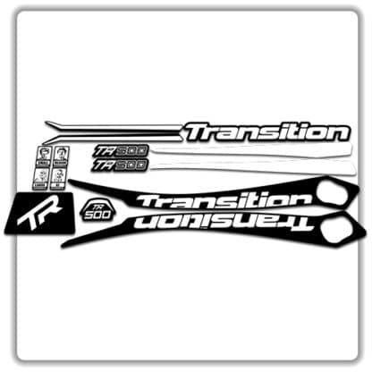 White Transition TR500 Frame Set Stickers