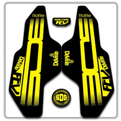 Yellow Bos Deville FCV Fork Stickers